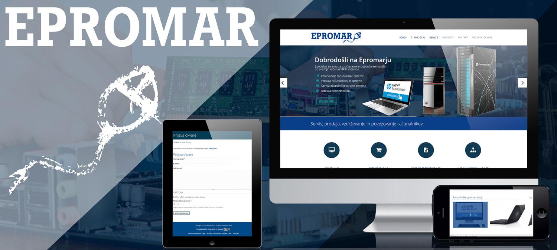 Prenova spletne strani Epromar d.o.o. 1