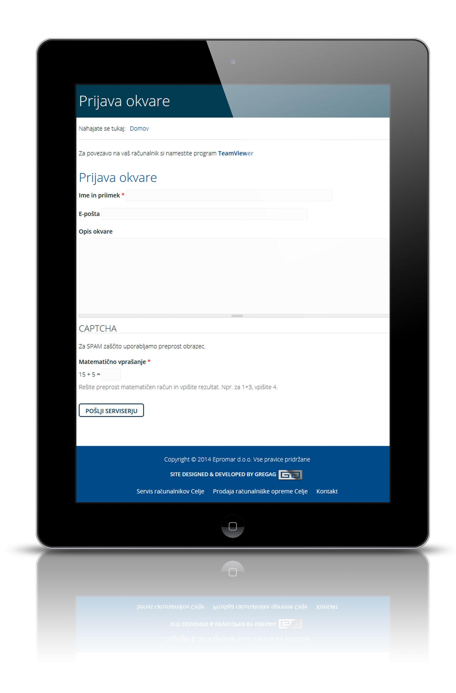 Prenova spletne strani Epromar d.o.o.2