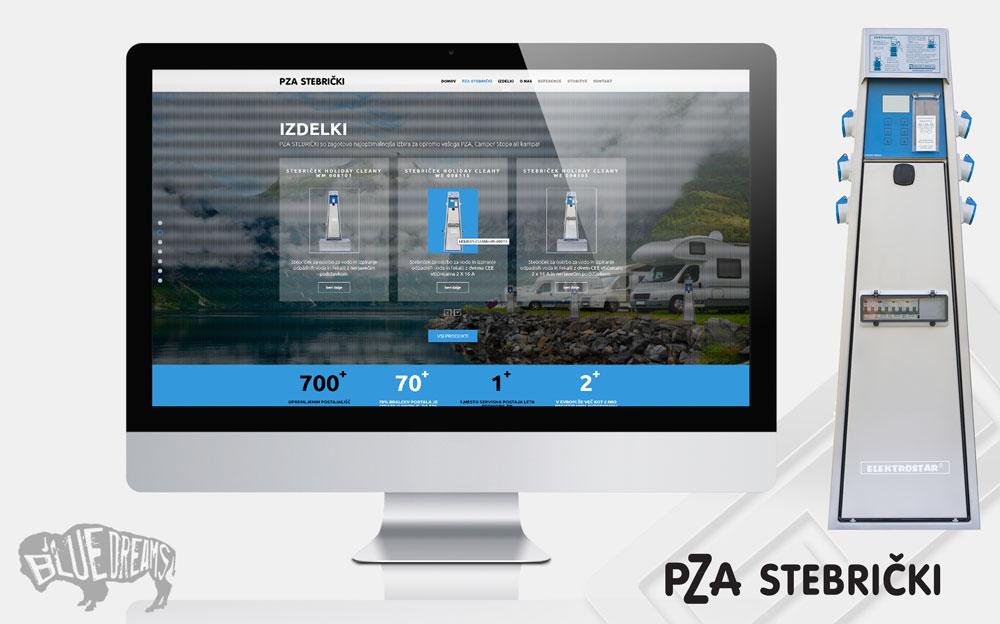 Oblikovanje in zdelava spletne strani pza-stebrički