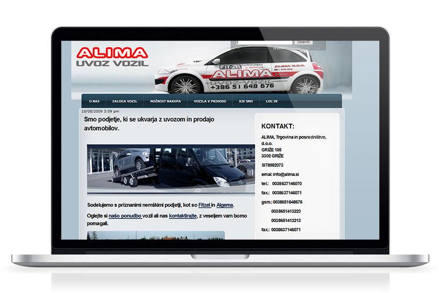 Spletna stran Alima