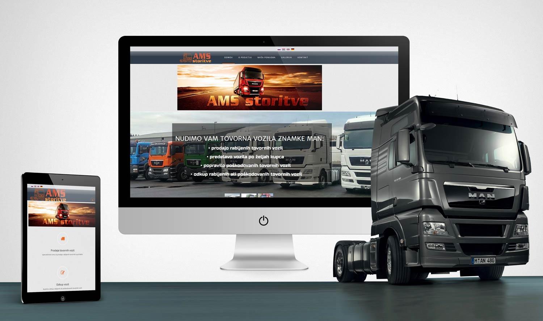 Oblikovanje in razvoj spletne strani AMS storitve